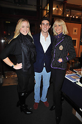 Left to right, NATHALIE STENMARK, PHILLIP SACHS and MIRJA SACHS  at a party to celebrate the publication of Maryam Sach's novel 'Without Saying Goodbye' held at Sotheran's Bookshop, 2 Sackville Street, London on 10th November 2009.