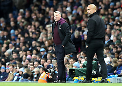 West Ham United manager David Moyes on the touchline during the Premier League match at the Etihad Stadium, Manchester.