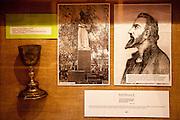 Jan Hus in einer Ausstellung im Haus Na Sboru in Kunvald (deutsch Kunwald) welches an den Beginn der Brüderunität erinnert.