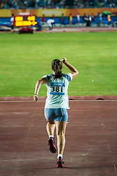 Tjasa Stanko, young slovenian javelin thrower, at 2nd Youth Olympic Games in Nanjing, China. Photo by: Peter Kastelic