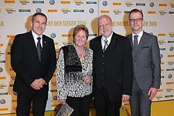 XXX Dr. August Markl mit Ehefrau Karin, Lars Soutschka,<br />  bei der ADAC SportGala in München / 171216<br /> <br /> ***ADAC SportGala in Munich, Germany, Dec. 17th, 2016.***
