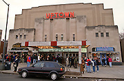 Fans camp over night to purchase tickets for the re-release of the movie Star Wars at the Uptown Theater January 31, 1997, in Washington, DC. The 1977 blockbuster is being re-released in a special edition with restored prints, digital sound, and added footage.
