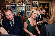 MATTHEW FREUD; MARIELA FROSTRUP, Graydon Carter hosts a diner for Tom Ford to celebrate the London premiere of ' A Single Man' Harry's Bar. South Audley St. London. 1 February 2010
