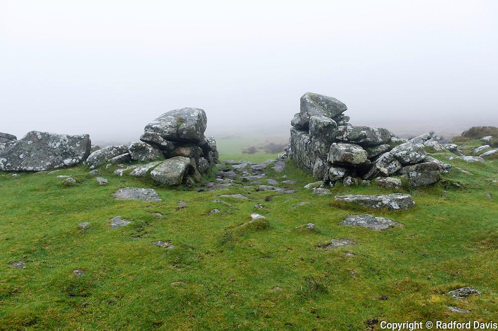 Grimspound Bronze-age ruins, Dartmoor Park, England