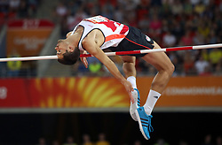 England's Robbie Grabarz in the Men's High Jump Final at the Carrara Stadium during day seven of the 2018 Commonwealth Games in the Gold Coast, Australia. PRESS ASSOCIATION Photo. Picture date: Wednesday April 11, 2018. See PA story COMMONWEALTH Athletics. Photo credit should read: Danny Lawson/PA Wire. RESTRICTIONS: Editorial use only. No commercial use. No video emulation.