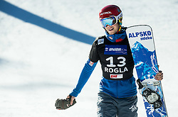 Zan Kosir (SLO) competed during Third place Run at Men's Parallel Giant Slalom at FIS Snowboard World Cup Rogla 2017, on January 28, 2017 at Course Jasa, Rogla, Slovenia. Photo by Vid Ponikvar / Sportida