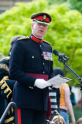 Deputy Colonel of the Regiment Colonel Simon Newton MBE Freedom Parade 3rd Battalion The Yorkshire Regiment Sheffield 23 June 2010 .Images © Paul David Drabble.