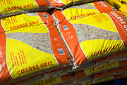 Bags of coarse grit