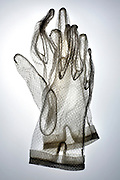 white transparent lace gloves