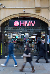 © Licensed to London News Pictures. 15/01/2013. London, UK. The HMV store at Piccadilly Circus, London, is seen today (15/01/13) after the company called in the receivers. Photo credit: Matt Cetti-Roberts/LNP