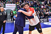 Gianmarco Pozzecco, Gianmarco De Vita<br /> Banco di Sardegna Dinamo Sassari - Openjobmets Varese<br /> Legabasket LBA Serie A 2019-2020<br /> Sassari, 12/01/2020<br /> Foto L.Canu / Ciamillo-Castoria