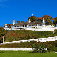 """""""Fort Mackinac""""<br /> <br /> A view from the green below of historic Fort Mackinac located on Mackinac Island Michigan. An early autumn scene with stunning blue skies!"""