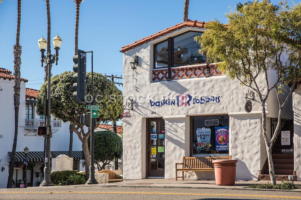 Baskin Robbins and The Lavender Lounge Tea Shop on El Camino Real San Clemente California