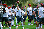 January 28 2016: Seattle Seahawks quarterback Russell Wilson during the Pro Bowl practice at Turtle Bay Resort on North Shore Oahu, HI. (Photo by Aric Becker/Icon Sportswire)