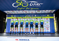 Team Slovenia: Martin LAVRIC of Team Slovenia, Jaka PRIMOZIC of Team Slovenia, Nik CEMAZAR of Team Slovenia, Uroš REPSE of Team Slovenia, Janez BRAJKOVIC of Team Slovenia, Marko PAVLIC of Team Slovenia, Kristijan KOREN of Team Slovenia during 1st Stage of 27th Tour of Slovenia 2021 cycling race between Ptuj and Rogaska Slatina (151,5 km), on June 9, 2021 in Slovenia. Photo by Vid Ponikvar / Sportida