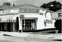1973 Penny Arcade Store on Sunset Blvd. near Sunset Plaza Dr.