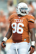 AUSTIN, TX - AUGUST 31: Chris Whaley #96 of the Texas Longhorns looks on against the New Mexico State Aggies on August 31, 2013 at Darrell K Royal-Texas Memorial Stadium in Austin, Texas.  (Photo by Cooper Neill/Getty Images) *** Local Caption *** Chris Whaley