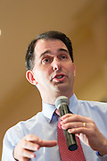 Wisconsin Governor and potential Republican presidential candidate Scott Walker addresses supporters during a GOP lunch event March 20, 2015 in Charleston, South Carolina.