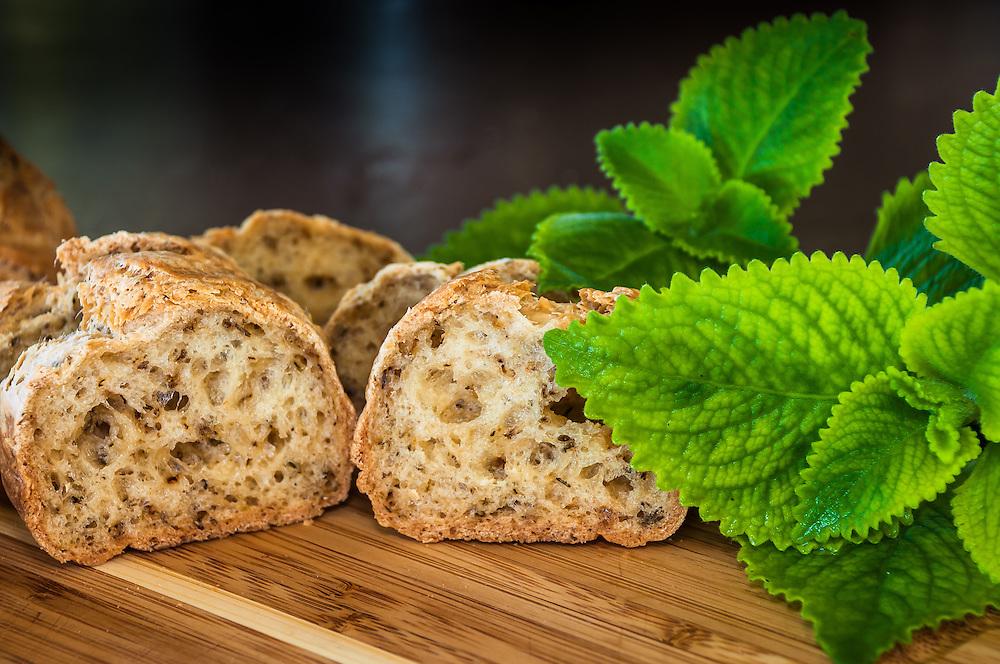 Gluten Free Herb Bread Slice with Oregano & Thyme