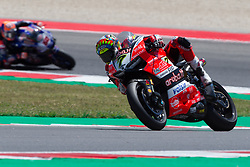 July 7, 2018 - Misano, RN, Italy - Chaz Davies of Aruba.it Racing - Ducati during race 1 of the Motul FIM Superbike Championship, Riviera di Rimini Round, at Misano World Circuit ''Marco Simoncelli'', on July 07, 2018 in Misano, Italy  (Credit Image: © Danilo Di Giovanni/NurPhoto via ZUMA Press)