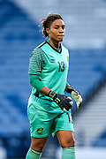 Nicole McClure (#13) of Jamaica during the International Friendly match between Scotland Women and Jamaica Women at Hampden Park, Glasgow, United Kingdom on 28 May 2019.
