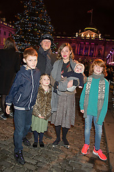 CAMILLA RUTHERFORD and DOMINIC BURNS with her children, HECTOR, MAUD, NANCY, BLAISE and at the launch of Skate at Somerset House in association with Fortnum & Mason held at Somerset House, The Strand, London on 17th November 2015.