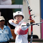 JUNG Dasomi (KOR) competes in Archery World Cup Final in Istanbul, Turkey, Sunday, September 25, 2011. Photo by TURKPIX