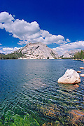 Stately Pleasure Dome from the shore of Tenaya Lake, Tuolumne Meadows area, Yosemite National Park, California