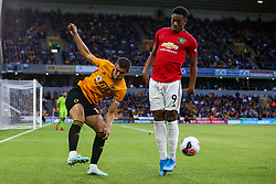 Conor Coady of Wolverhampton Wanderers takes on Anthony Martial of Manchester United - Mandatory by-line: Robbie Stephenson/JMP - 19/08/2019 - FOOTBALL - Molineux - Wolverhampton, England - Wolverhampton Wanderers v Manchester United - Premier League