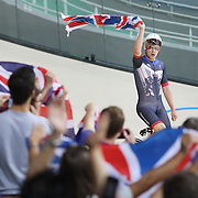 Track Cycling - Olympics: Day 6  The Great Britain team of Edward Clancy, Steven Burke, Owain Doull and Bradley Wiggins celebrate winning the gold medal in world record time during the Men's Team Pursuit race during the track cycling competition at the Rio Olympic Velodrome August 12, 2016 in Rio de Janeiro, Brazil. (Photo by Tim Clayton/Corbis via Getty Images)