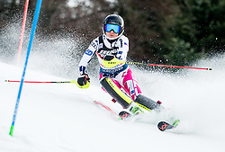 """Martina Dubovska (CZE) competes during 1st Run of FIS Alpine Ski World Cup 2017/18 Ladies' Slalom race named """"Snow Queen Trophy 2018"""", on January 3, 2018 in Course Crveni Spust at Sljeme hill, Zagreb, Croatia. Photo by Vid Ponikvar / Sportida"""