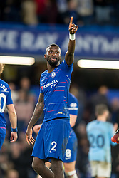 December 8, 2018 - London, Greater London, England - Antonio Rüdiger of Chelsea celebrates the victory during the Premier League match between Chelsea and Manchester City at Stamford Bridge, London, England on 8 December 2018. (Credit Image: © AFP7 via ZUMA Wire)