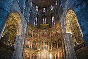 Detail of interior of Roman Catholic Cathedral of Avila, Cathedral de Avila, Spain