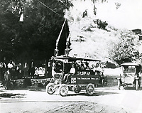 1914 Trackless trolley on Laurel Canyon