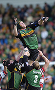 Northampton, Northamptonshire,  18th September 2004, Franklyn Gardens, [Mandatory Credit Pete Spurrier/Intersport Images]Zurich Premiership - Northampton - Saints vs Gloucester. <br /> <br /> Northampton's, Selborne Boome, lifted in the line out.