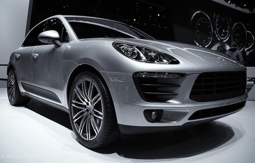 """""""2014 Porsche Macan"""" mono<br /> <br /> The Beautiful 2014 Porsche Macan seen at the 2014 Detroit NAIAS.<br /> <br /> Cars and their Details by Rachel Cohen"""