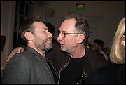 MAT COLLISHAW; GARY HUME, Private view, Paul Simonon- Wot no Bike, ICA Nash and Brandon Rooms, London. 20 January 2015
