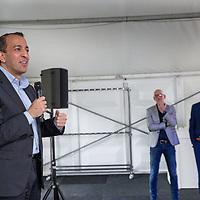 Nederland, Zaandam, 15 mei 2017.<br /> Ingebruikname eerste e-trucks voor Albert Heijn.<br /> De Amsterdamse wethouder Abdeluheb Choho, wethouder Duurzaamheid neemt de eerste van de twee e-trucks in gebruik die Albert Heijn-supermarkten in Amsterdam gaan bevoorraden.<br /> <br /> Foto: Jean-Pierre Jans<br /> <br /> The Netherlands, Zaandam, May 15, 2017. <br /> Commissioning of the first e-trucks for supermarket chain Albert Heijn.The Amsterdam Governor Abdeluheb Choho, alderman durability, standing with the first of the two e-trucks that will supply Albert Heijn supermarkets in Amsterdam.<br /> <br /> Photo: Jean-Pierre Jans