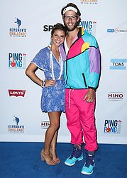 LOS ANGELES, CA, USA - AUGUST 23: 6th Annual PingPong4Purpose held at Dodger Stadium on August 23, 2018 in Los Angeles, California, United States. 23 Aug 2018 Pictured: Ellen Kershaw, Clayton Kershaw. Photo credit: Xavier Collin/Image Press Agency / MEGA TheMegaAgency.com +1 888 505 6342