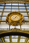 Clock in Musée d'Orsay, Paris, France