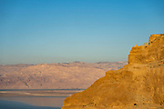 view of the Dead Sea from Masada national park, Israel