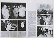 UK Miners Miners'Strike 1984 1985 Lea Hall Colliery Rugeley Staffordshire Staffs Hanging On By Your Fingernails published by Spokesman Press 1987. Book, design and photographs by Nigel Dickinson. Writers Jon Williams and Liliane Jaddou