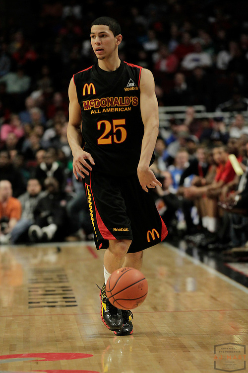 30 March 2011: Austin Rivers (25) who has committed to Duke plays in the 2011 McDonalds All American game in Chicago, Ill.