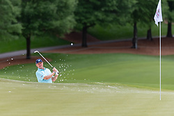 May 3, 2019 - Charlotte, NC, U.S. - CHARLOTTE, NC - MAY 03: Ernie Els hits from the bunker on the 15th green during the second round of the Wells Fargo Championship at Quail Hollow on May 3, 2019 in Charlotte, NC. (Photo by William Howard/Icon Sportswire) (Credit Image: © William Howard/Icon SMI via ZUMA Press)