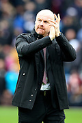 Burnley Manager Sean Dyche during the Premier League match between Burnley and Bournemouth at Turf Moor, Burnley, England on 22 February 2020.