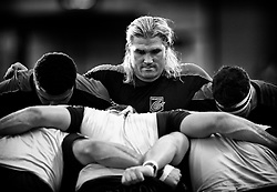 Dragons' Richard Hibbard during the pre match warm up<br /> <br /> Photographer Simon King/Replay Images<br /> <br /> Guinness PRO14 Round 1 - Dragons v Benetton Treviso - Saturday 1st September 2018 - Rodney Parade - Newport<br /> <br /> World Copyright © Replay Images . All rights reserved. info@replayimages.co.uk - http://replayimages.co.uk