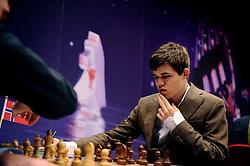 18-01-2010 SCHAKEN: CORUS CHESS 2010: WIJK AAN ZEE<br /> Derde ronde van het Corus Schaaktoernooi 2010 / Magnus Carlsen NOR<br /> ©2010-WWW.FOTOHOOGENDOORN.NL