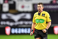 Referee Nigel Owens<br /> <br /> Photographer Craig Thomas/Replay Images<br /> <br /> Guinness PRO14 Round 13 - Ospreys v Cardiff Blues - Saturday 6th January 2018 - Liberty Stadium - Swansea<br /> <br /> World Copyright © Replay Images . All rights reserved. info@replayimages.co.uk - http://replayimages.co.uk