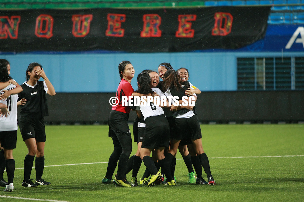 Jalan Besar Stadium, Monday, May 16, 2016 — St Andrew's Junior College (SAJC) defeated Meridian Junior College (MJC) 4-2 on penalties to finish in third place in the National A Division Girls Football Championship. https://www.redsports.sg/2016/05/18/national-a-div-football-sajc-mjc/