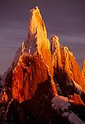 Cerro Torre, dawn, Los Glaciares National Park, Patagonia, Argentina.